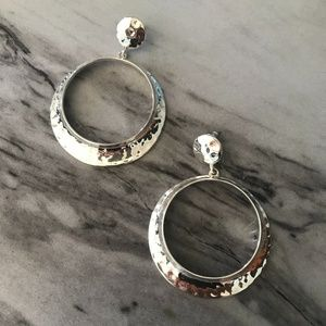 H&M Silver Round Post Earrings